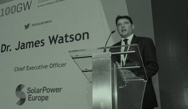 James Watson, chief executive office at SolarPower Europe discusses sustainable solar