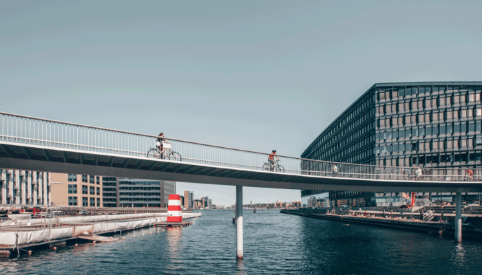 Sixty-two per cent of people living in Copenhagen cycle to work or school, pedalling 1.44 million kilometres every day. The city has invested more than €40 per head in bike infrastructure